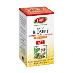 BIOSEPT (antibiotic natural), sirop miere si propolis  100 ml